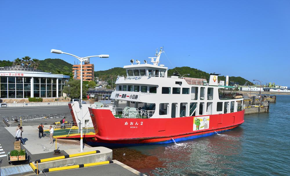 japan kagawa shodoshima ferry port seto-naikai