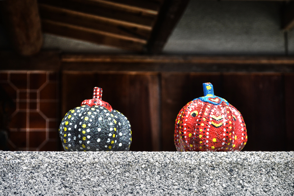 japan kagawa naoshima pumpkin garden