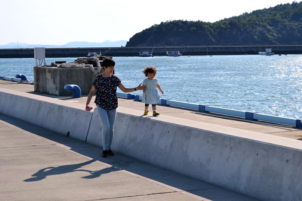 japan kagawa naoshima sea harbour mayumi mia