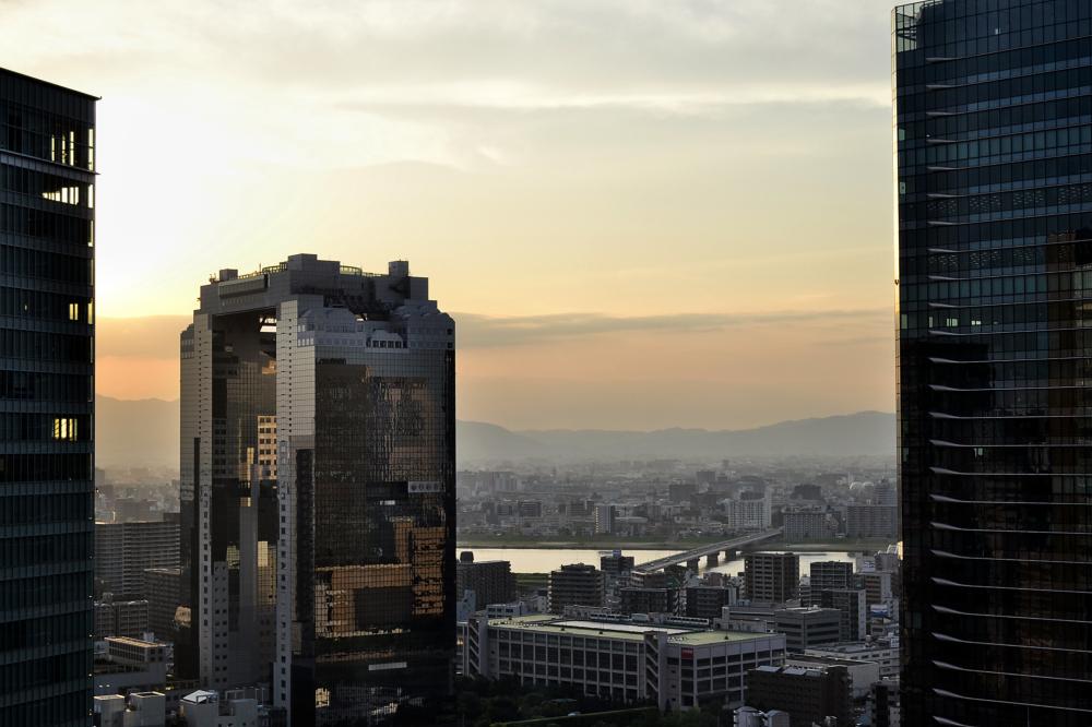 osaka umeda japan umeda-sky-buildingsunset