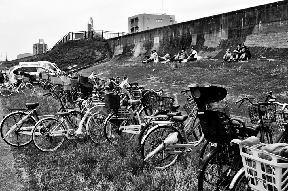 osaka umeda japan yodogawa bicycle