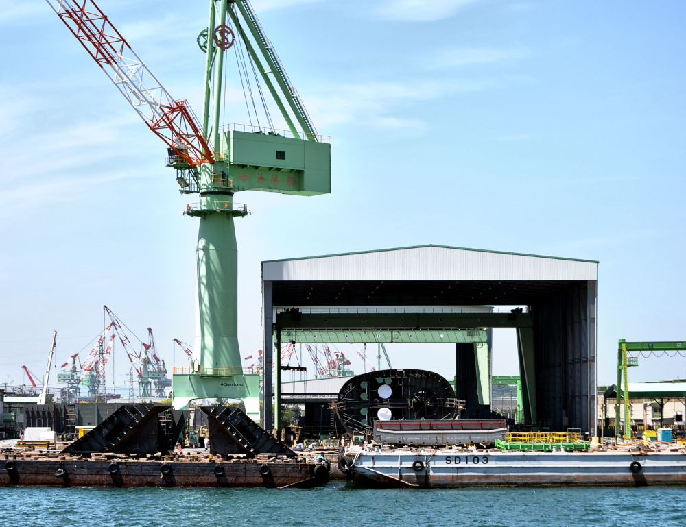 shipyard ship marugame shikoku japan seto-naikai