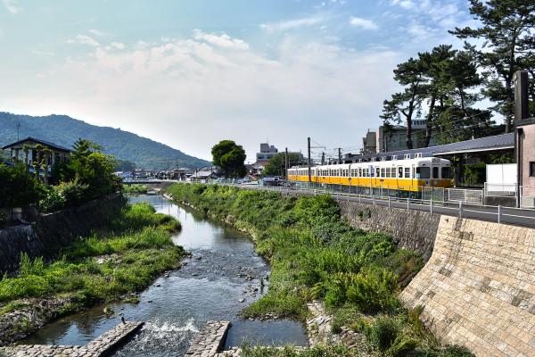 kotohira shikoku japan train station river kagawa