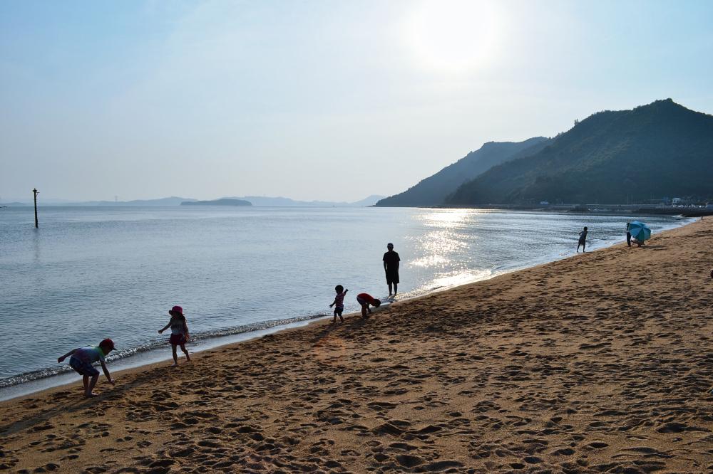 okayama japan beach sea tamano shibukawa