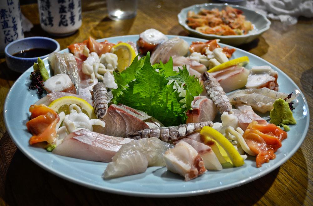 shimotsui okayama japan sashimi restaurant
