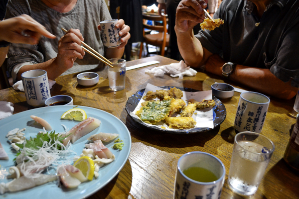 shimotsui okayama kurashiki japan sashimi tempura