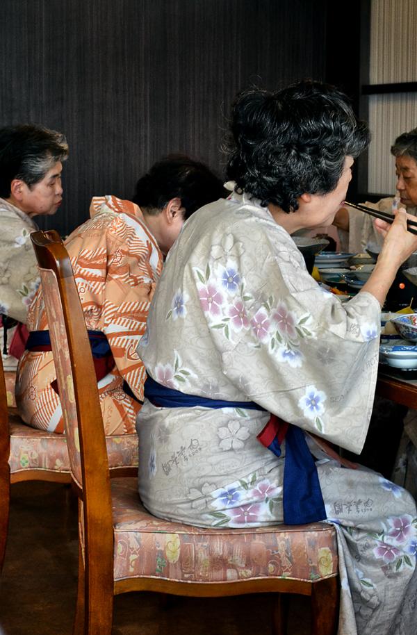 okayama kurashiki japan ryokan dinner