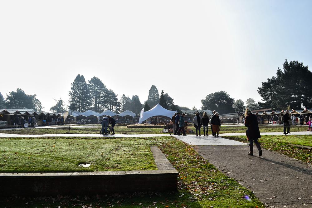 wisley garden england stall market