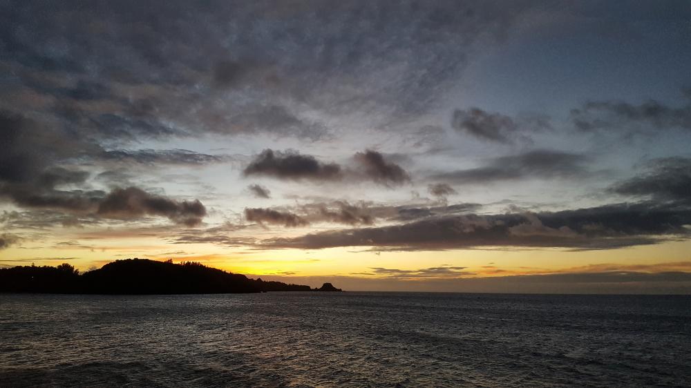 okinawa japan sea sunset