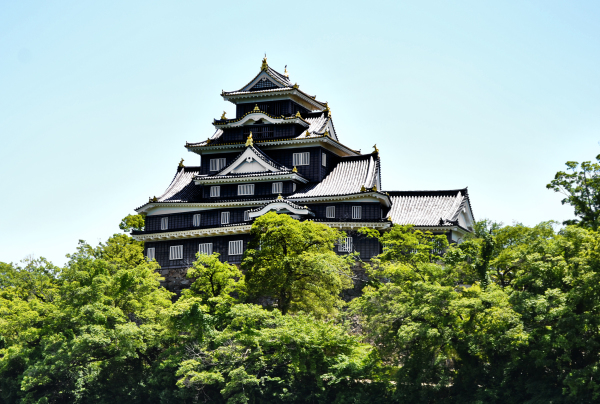 okayama japan castle okayama-jo