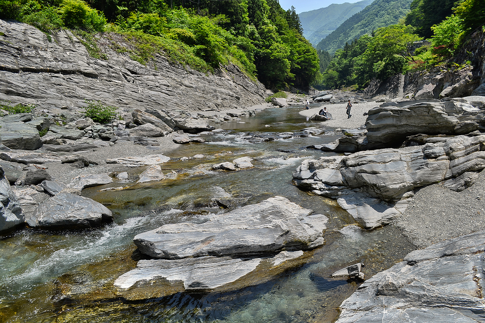 tokushima shikoku japan iya-gawa river