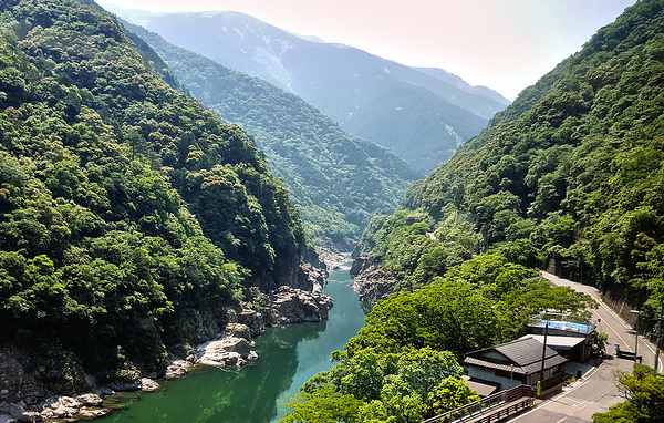 tokushima shikoku japan iya-gawa river mountain