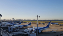 tokyo japan haneda airport aeroplane