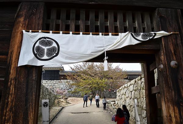 castle matsuyama shikoku japan noren