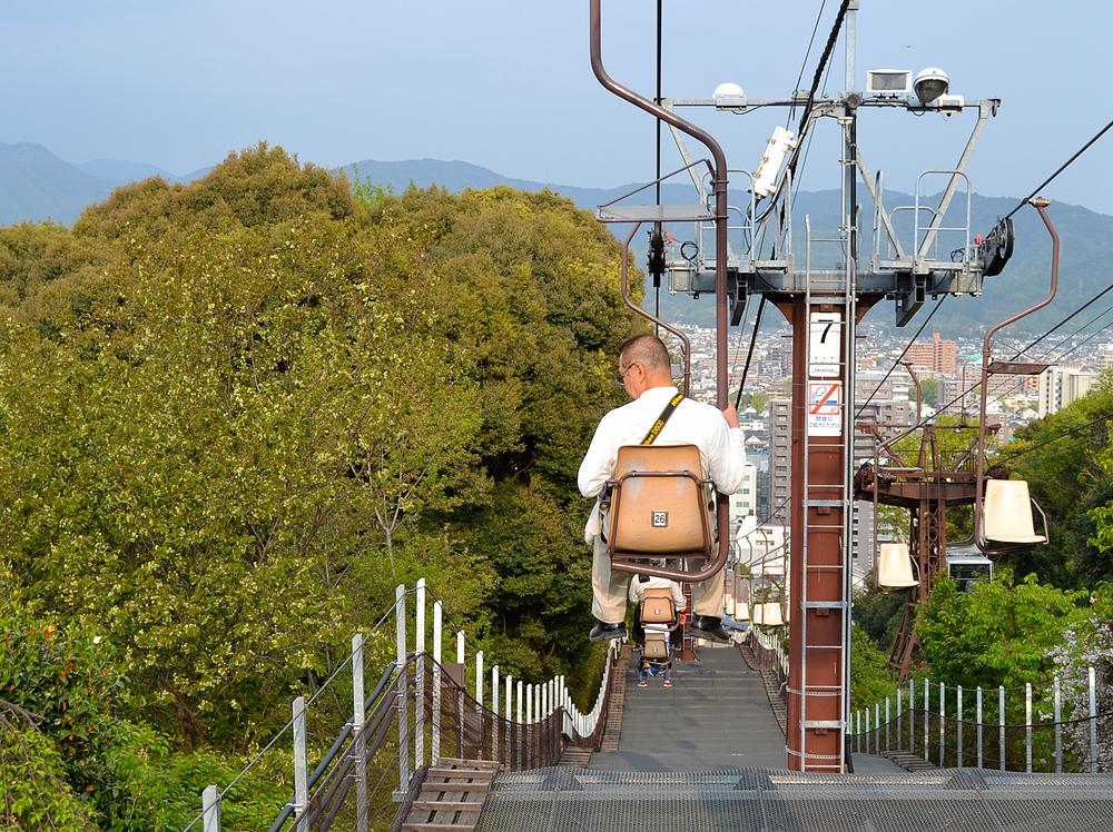 matsuyama shikoku japan chair-lift