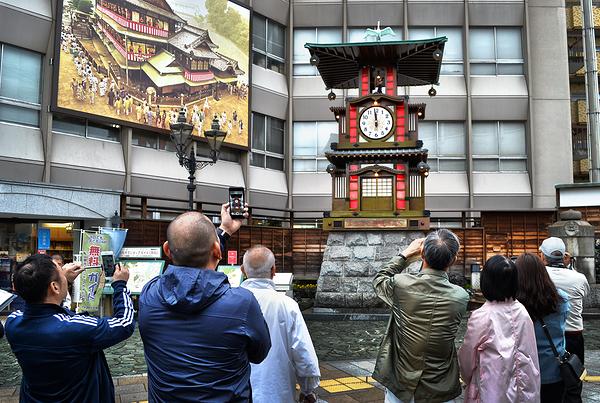 matsuyama shikoku japan clock tourist botchan