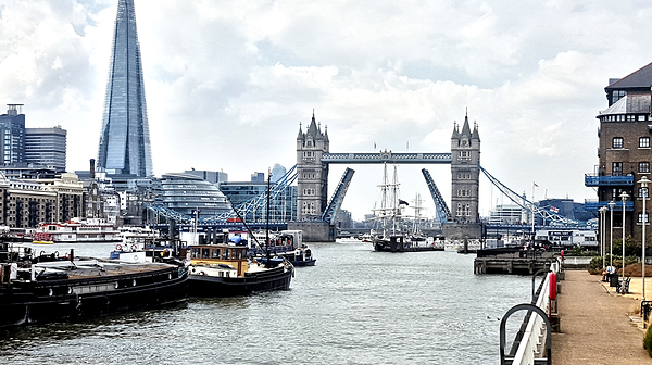 london england thames tower-bridge river ship