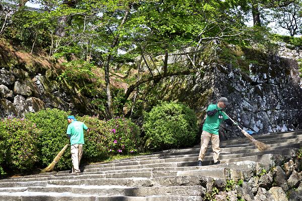 kochi castle shikoku japan steps