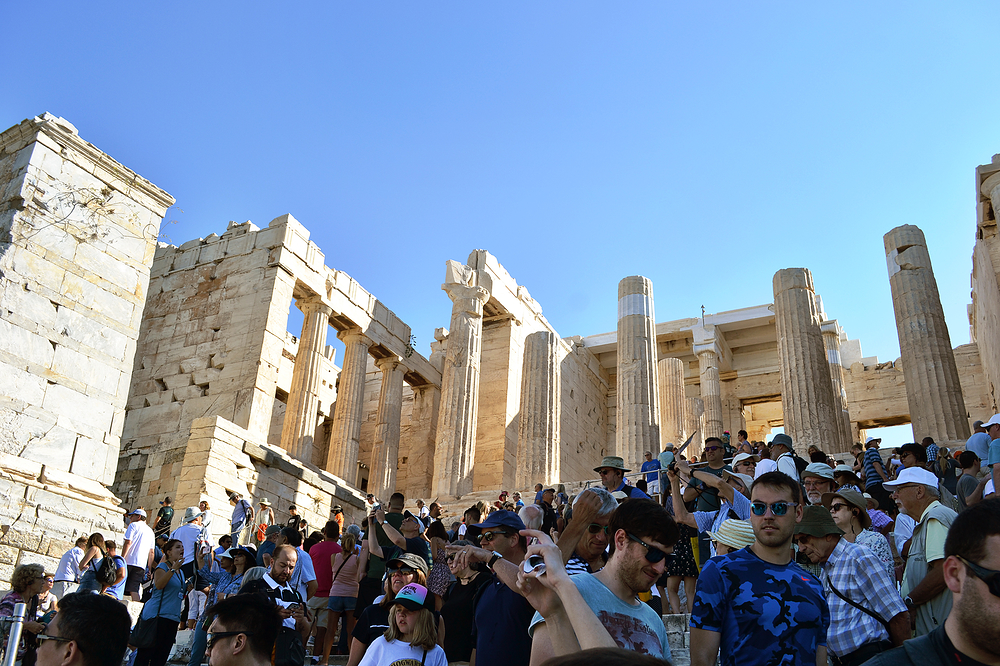 athens greece acropolis tourist