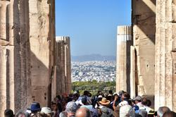 athens greece acropolis tourist