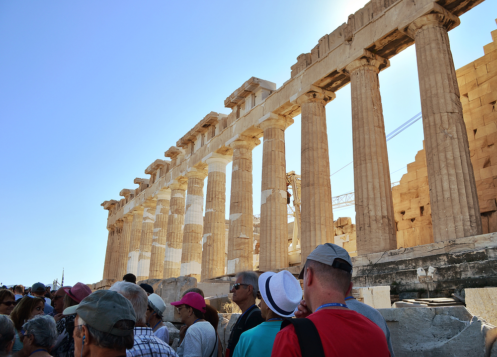 athens greece acropolis tourist parthenon