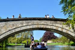 cambridge england river bridge boat