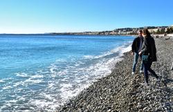 nice france sea beach tourist
