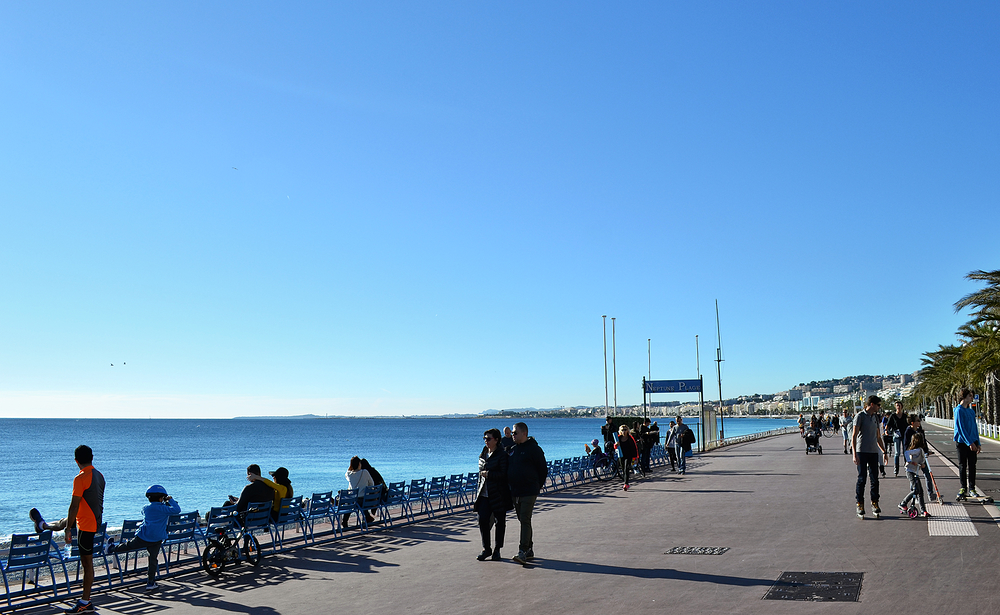 Promenade-des-Anglais Nice france tourist sea