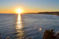 nice france chateau sunset sea