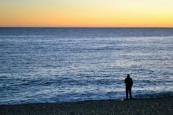 nice france beach sea sunset