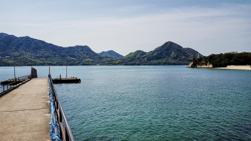 hiroshima japan okunoshima seto-naikai sea jetty