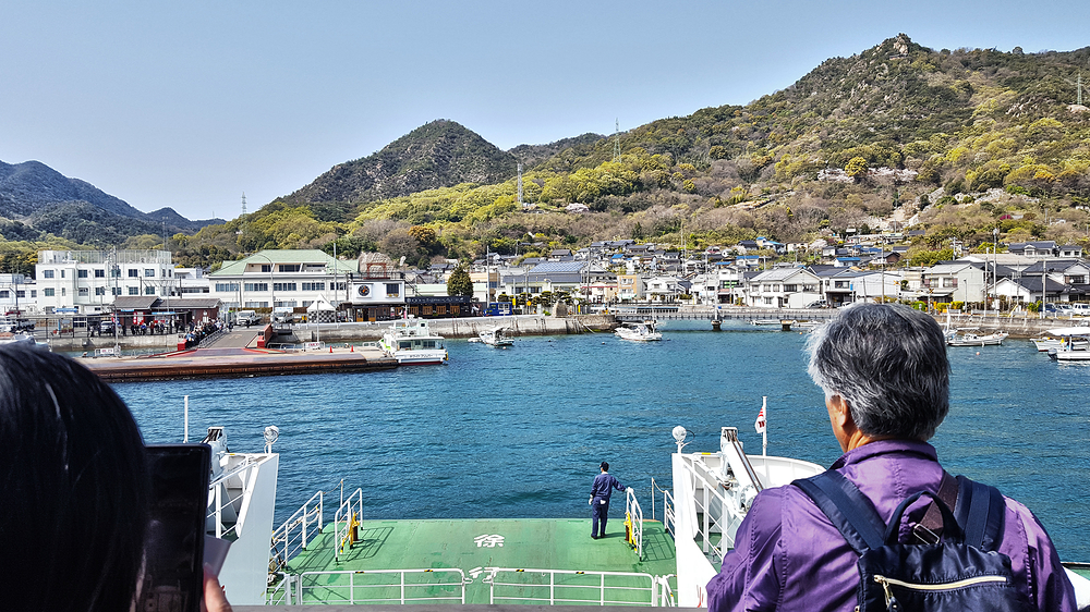 hiroshima japan seto-naikai ferry sea okunoshima
