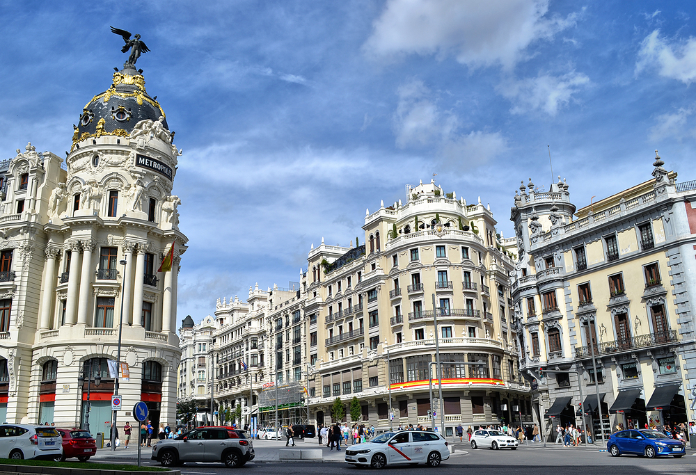 madrid spain gran-via