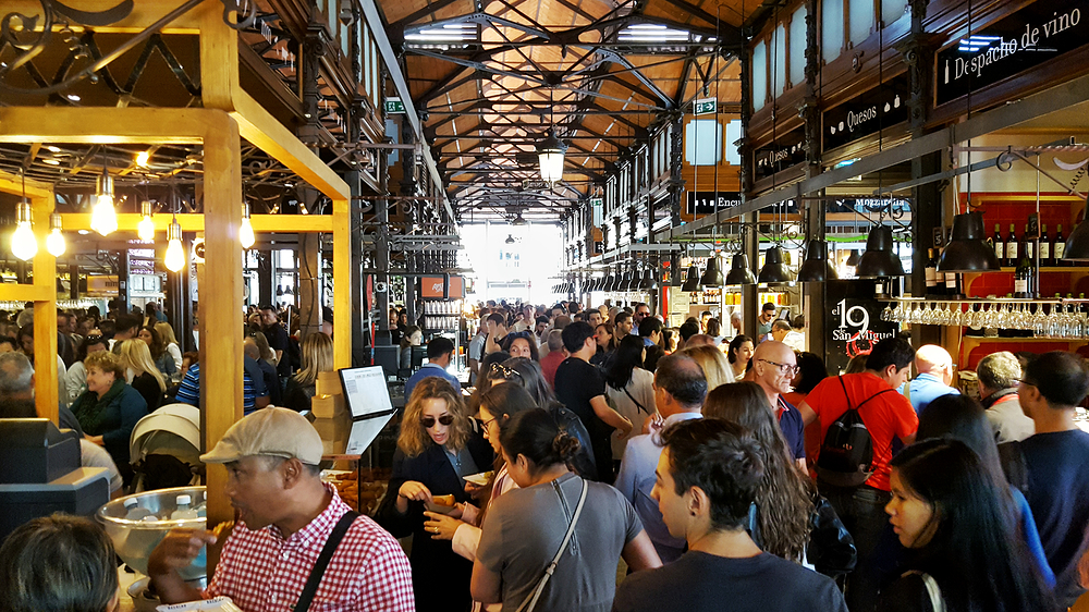 Mercado-de-San-Miguel, Madrid spain market