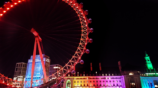 christmas london london-eye thames england river
