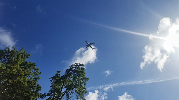 kew-gardens london england aeroplane