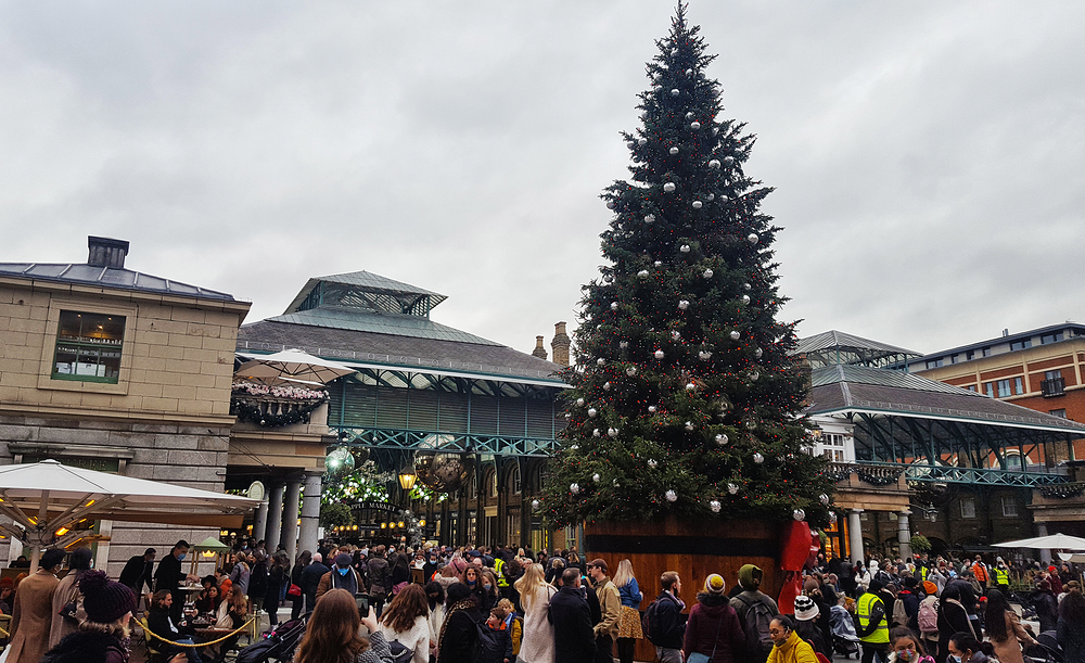 christmas london covent-garden england