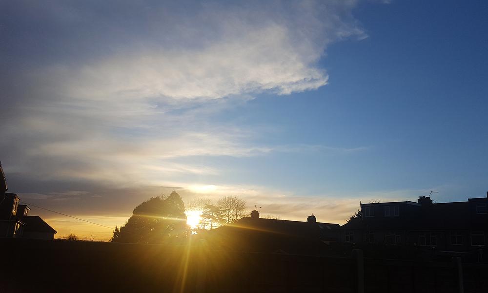 sutton england sunset