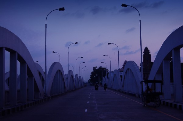 Napier's bridge at twilight