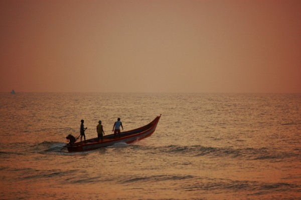 Sailing at the Bay of Bengal