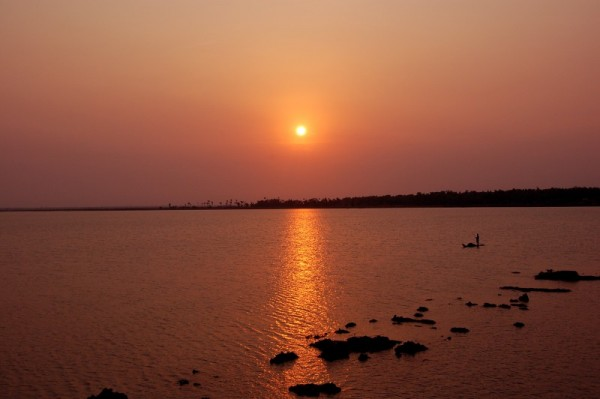 Setting at the Backwaters of Marakanam