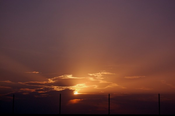 Scene of the setting Sun