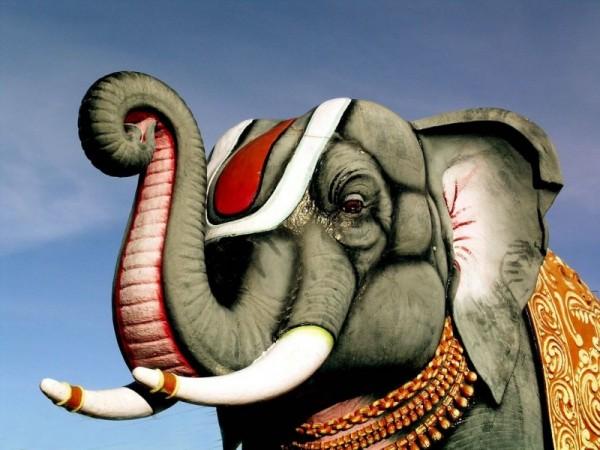 Painted Elephant!