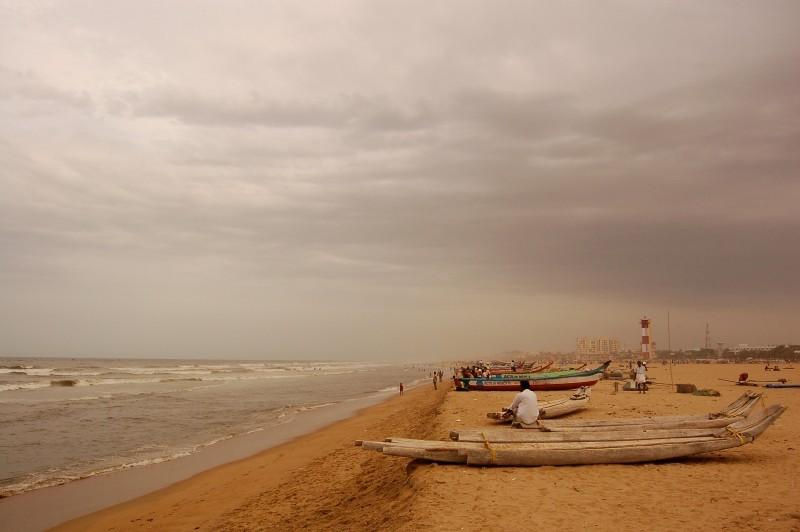 Clouds gather around the Chennai coast!