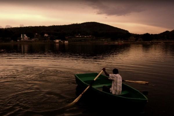 Boating at the twilight in Yelagiri