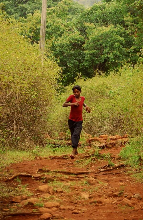 Running through the woods!