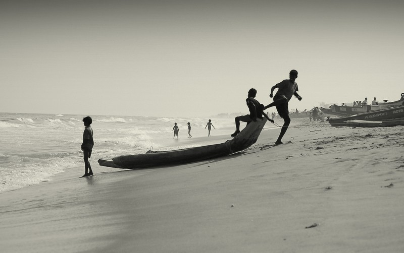 Noon fun at the Marina beach