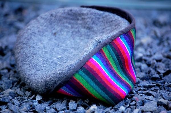 The lost Kashmiri cap - (Theme - Colours of India)
