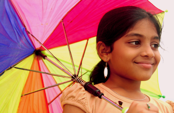 Aditi and her Umbrella!