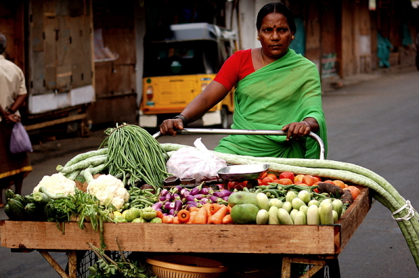 A Mini Vegetable shop on wheels!
